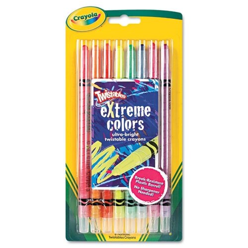 Crayola LLC Twistable Crayons (8 Neon Colors/Set)