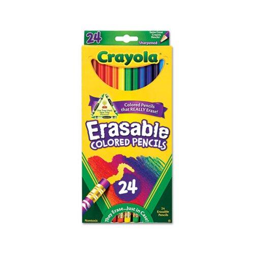 Crayola LLC 3.3 Mm Erasable Colored Woodcase Pencils (24/Set)