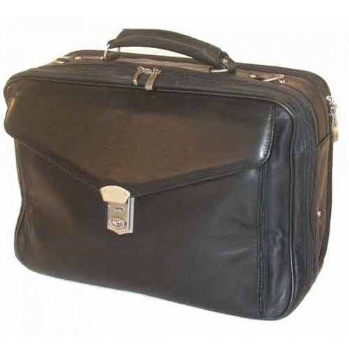 Bond Street, LTD. Soft Nappa Leather Laptop Briefcase