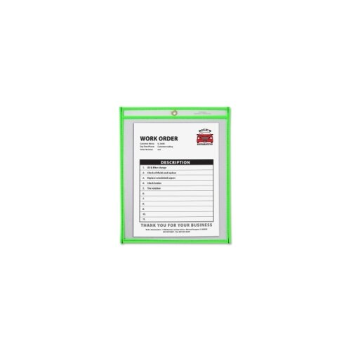 """C-Line Products, Inc. Shop Ticket Holder, 9""""x12"""", Metal Eyelet, Various Colors"""