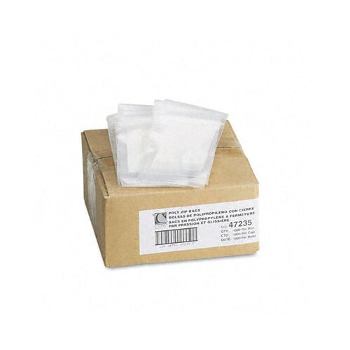 C-Line Products, Inc. Write-On Recloseable Poly Small Parts Bags, 3 X 5 (1000/Carton)