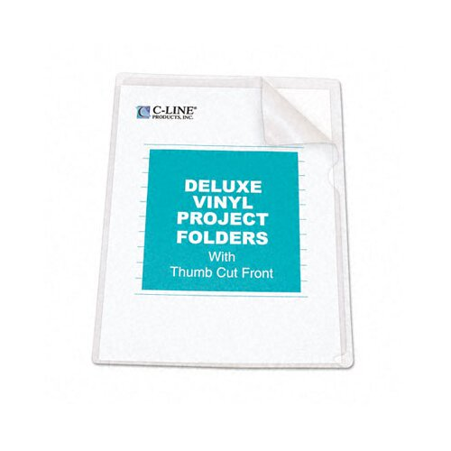 C-Line Products, Inc. Deluxe Project Folders, Jacket, Letter, Vinyl, 50/Box