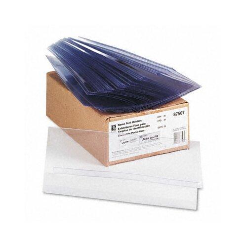 C-Line Products, Inc. Tent Card Holder Rigid Heavyweight (25/Box)
