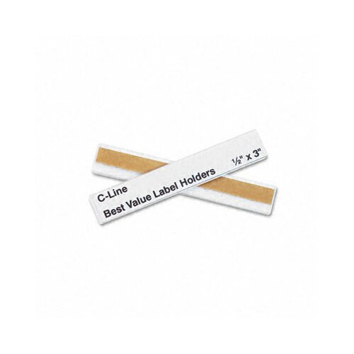 C-Line Products, Inc. Label Holders, 3 X 1/2 (50/Pack)