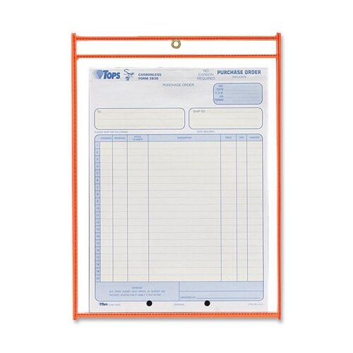 "C-Line Products, Inc. Shop Ticket Holder, 9""x12"", Metal Eyelet, Various Colors"