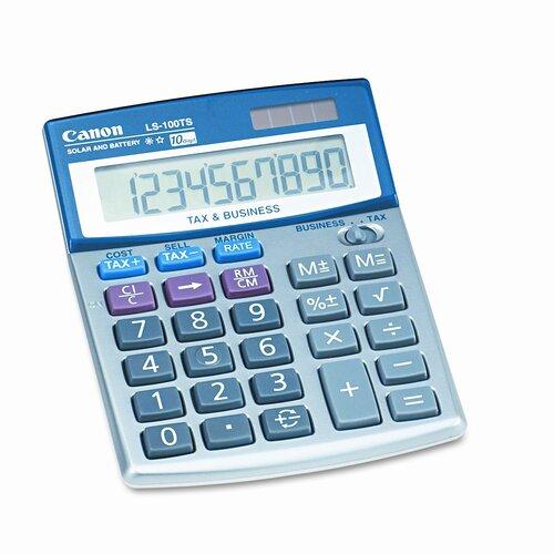 Canon LS-100TS Compact Desktop Calculator, 10-Digit LCD