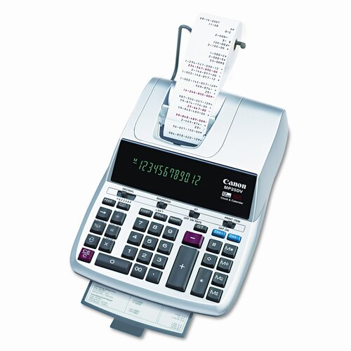 Canon 12-Digit Fluorescent Ribbon Printing Calculator