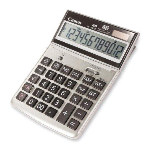 """Canon 12-Digit Desktop Calculator, 7-3/4""""x5-1/4""""x1-1/8"""", Beige"""