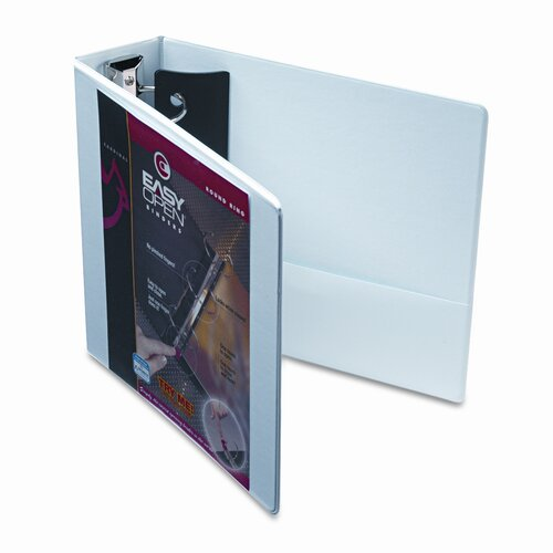 "Cardinal Brands, Inc Easyopen Clearvue Locking Round Ring Binder, 3"" Capacity"