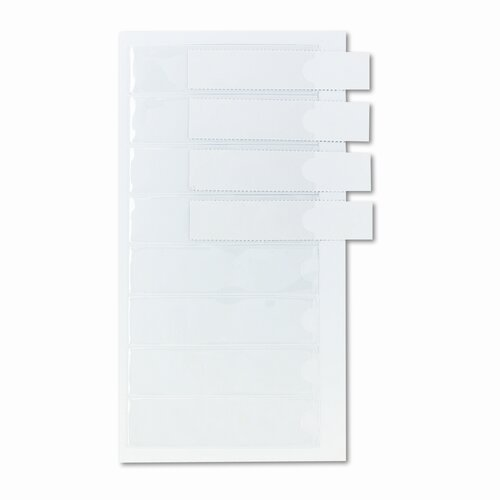 Cardinal Brands, Inc Self-Adhesive Label Holders for Binders, Clear, 8 per Pack