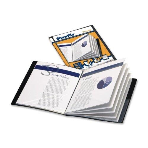 "Cardinal Brands, Inc Presentation Book, 6 Pockets, 11""x8-1/2"", Black"