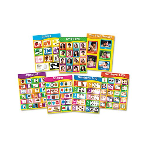Carson-Dellosa Publishing Early Learning Chartlet Set