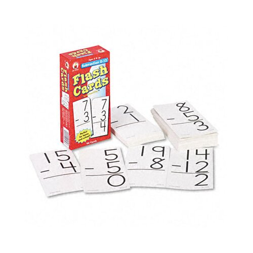 Carson-Dellosa Publishing Subtraction Facts 0-12 Flash Cards, 94/Pack
