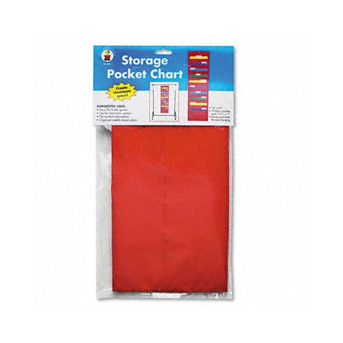 Carson-Dellosa Publishing Storage Pocket Chart with 10 Pockets, Hanger Grommets