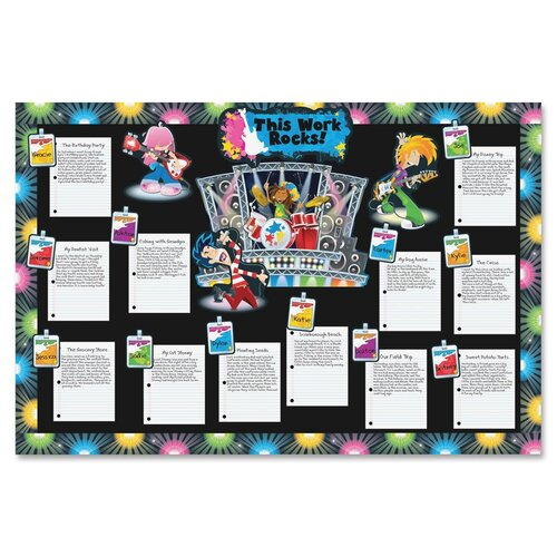 Carson-Dellosa Publishing Rock Stars Bulletin Board Set