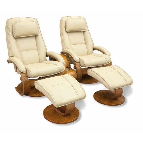 Mac Motion Swivel Recliner and Ottoman (Set of 2)