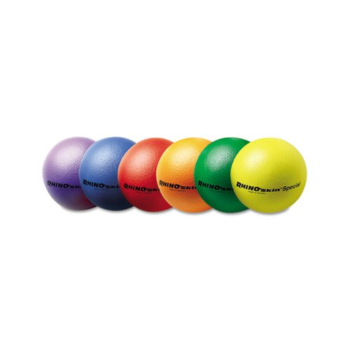 "Champion Sports Rhino Skin Ball Sets, 8.5"", Blue, Green, Orange, Purple, Red, Yellow"