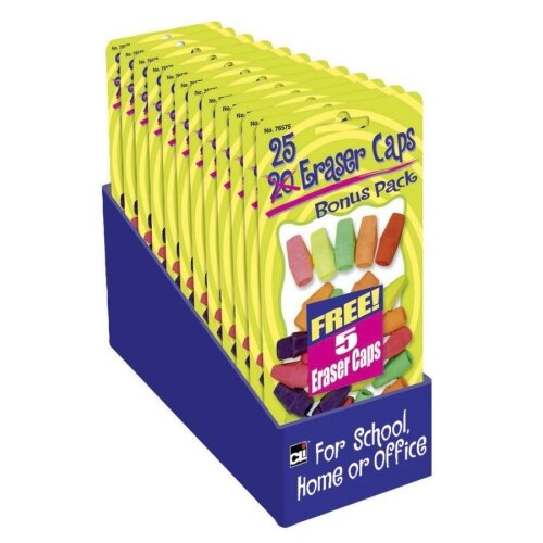 Charles Leonard Co. Eraser Pencil Capacitys, Assorted