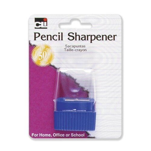 Charles Leonard Co. Pencil Sharpener, w/ Cone Receptacle, Assorted