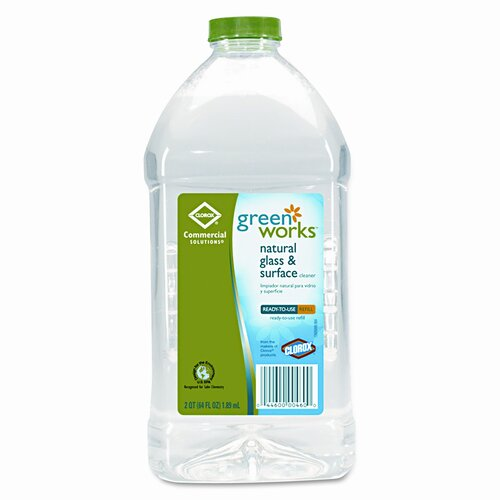 Clorox Company Green Works Glass/Surface Cleaner, 64oz Refill Bottle