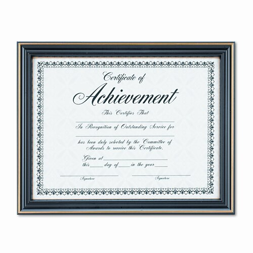 DAX® Trimmed Document Wood Frame with Certificate, 8-1/2 X 11