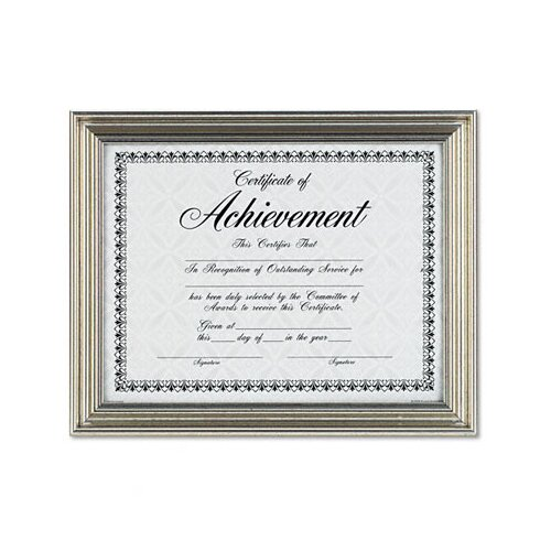 """DAX® Antique Colored Document Metal Frame with Certificate, 8.5"""" x 11"""""""