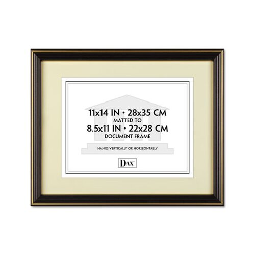 DAX® Trimmed Document Wood Frame with Certificate, 11 X 14