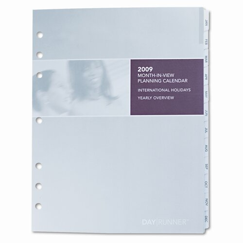 Day Runner Express Monthly Planning Pages Refill, 8-1/2 x 11, 2013