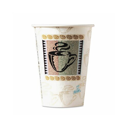 Dixie Coffee Dreams Design Perfectouch Paper Hot Cups, 8 Oz., 50/Pack