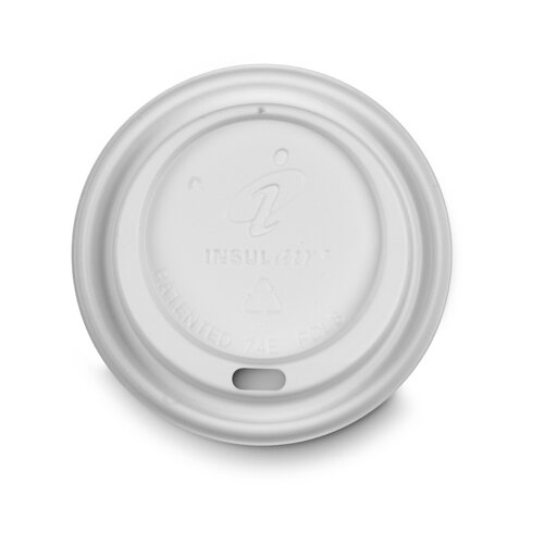Dixie Hot Drink Lid Cup in White (10 packs of 100)