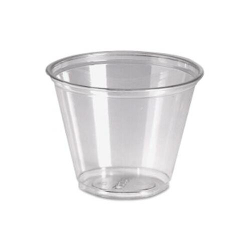 Dixie 9 oz Cold Plastic Drink Cups in Clear