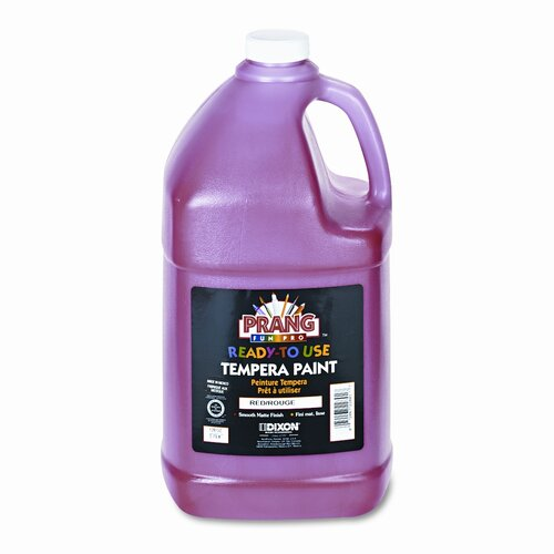Dixon® Ready-to-Use Tempera Paint, Red, One Gallon