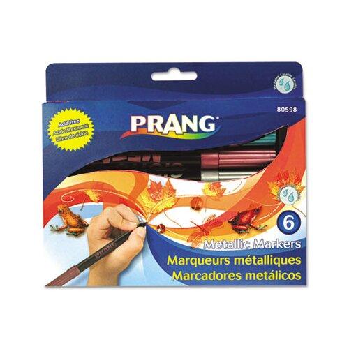 Dixon® Prang Washable Markers, Bullet Tip (6 Pack)