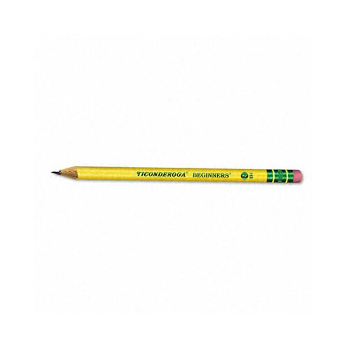 Dixon® Ticonderoga Beginners Wood Pencil with Eraser, 12/Pack