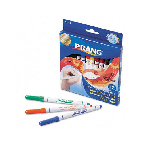 Dixon® Prang Washable Markers, Fine Point (Pack of 12)