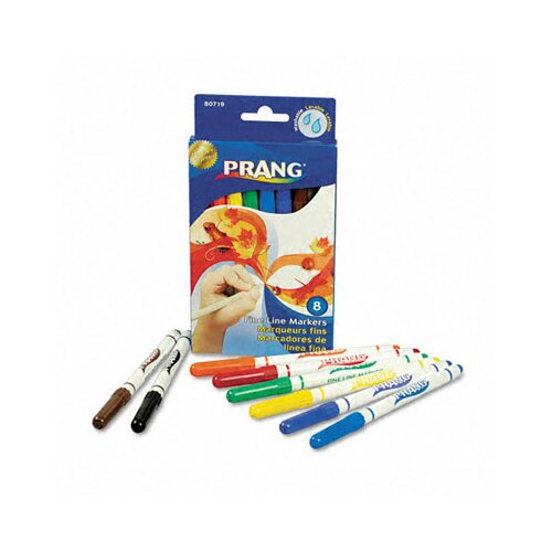 Dixon® Prang Washable Markers, Fine Point (8 Pack)