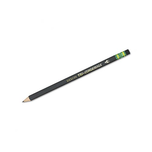 Dixon® Tri-Conderoga Woodcase Pencil, #2, Yellow, 6/Pack