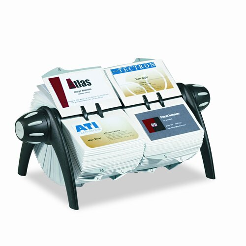 Durable Office Products Corp. Visifix Duo Rotary Business/Address File Holds 800 Cards