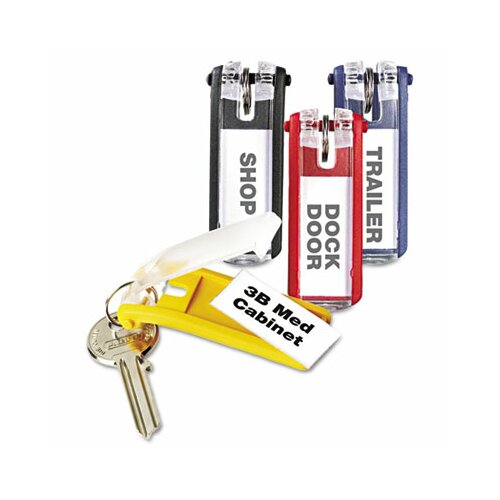 Durable Office Products Corp. Key Tags for Locking Key Cabinets, Plastic, 24/Pack