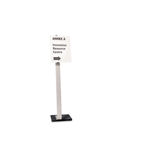 Durable Office Products Corp. Info Sign Duo Floor Stand, Tabloid-Size Inserts