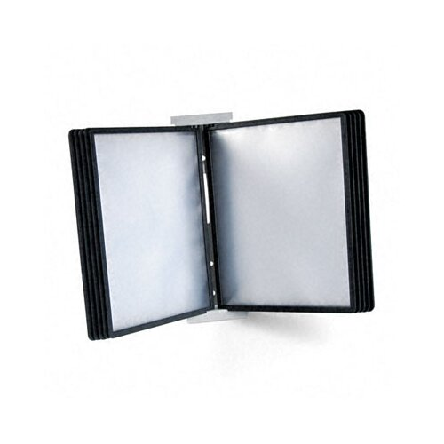 Durable Office Products Corp. Instaview Expandable Desktop Reference System with Black Borders, 10 Panels