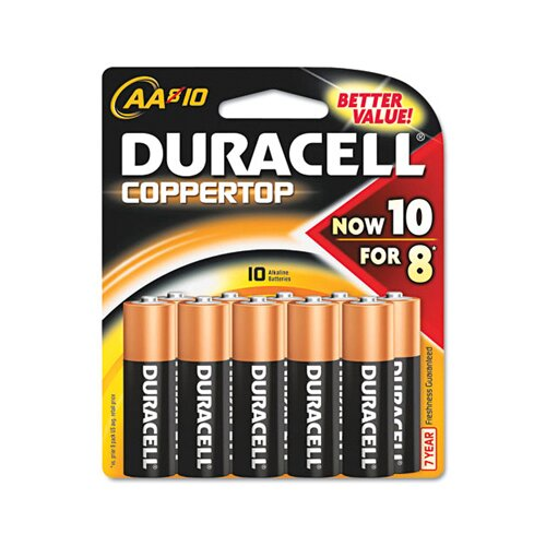 Duracell AA-Cell Coppertop Alkaline Batteries