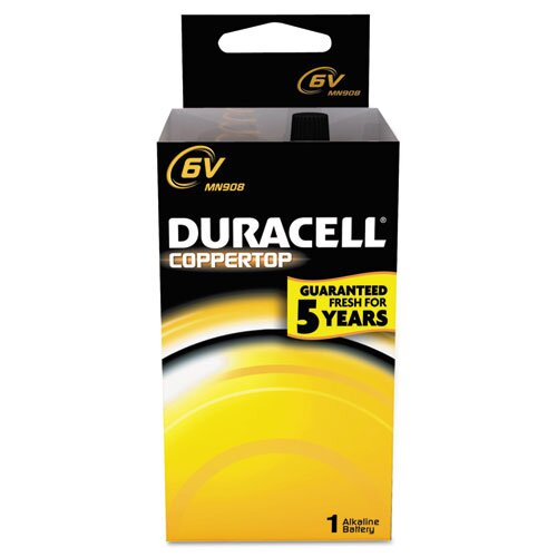 Duracell CopperTop Alkaline 6V Lantern Battery