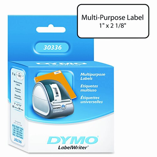 Dymo Corporation 30336 Multipurpose Labels, 500/Box