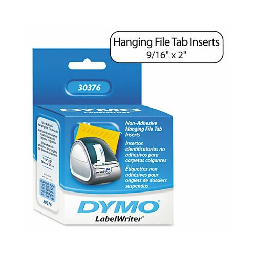 Dymo Corporation Hanging File Folder Tab Inserts, 260/Box
