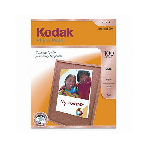 Eastman Kodak Matte Photo Paper, 100 Sheets/Pack