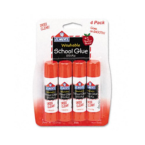 Elmer's Products Inc Washable All Purpose School Glue Sticks (4 Pack)