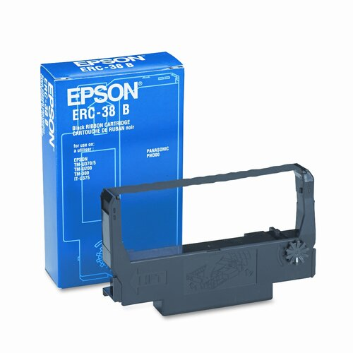 Epson America Inc. ERC38B Cash Register Ribbon, Fabric