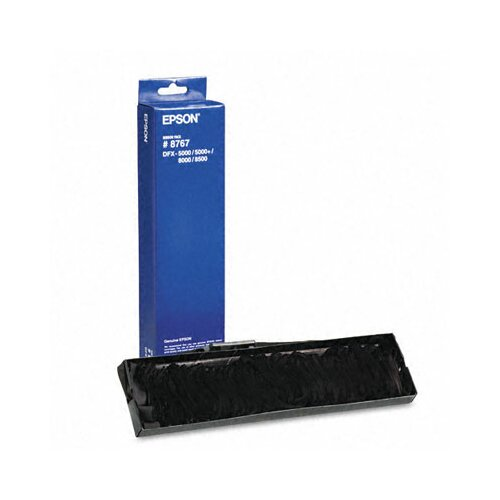 Epson America Inc. 8766/8767 Replacement Printer Ribbon, Fabric, 15M Yield, Black