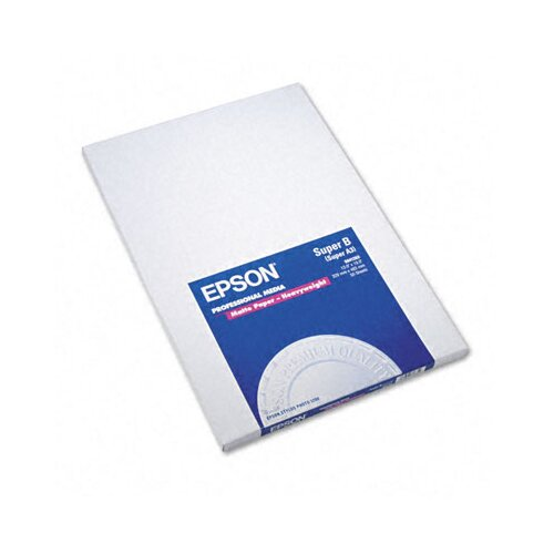 Epson America Inc. S041263 Premium Matte Presentation Paper, 45 Lbs., 13 X 19, 50 Sheets/Pack